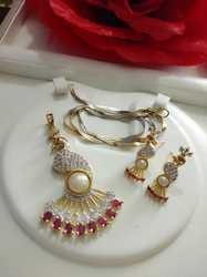 Jewellery Pendant Necklace Set Earring With Chain