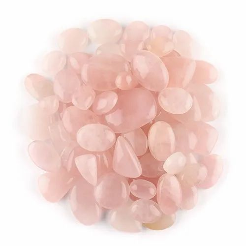 Natural Rose Quartz Cabochons Cut Wholesale Assortment Loose Crystal Gemstone For Jewelry Making