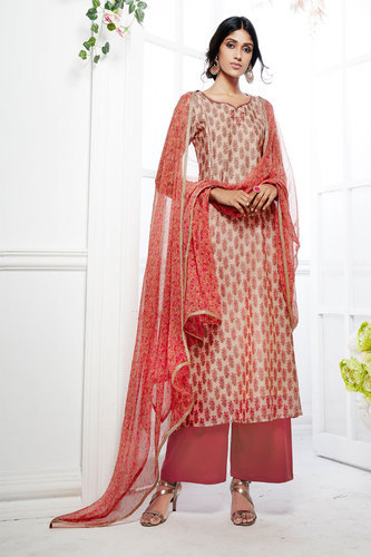 881c38e7eb Embroidered Straight Cut Salwar Suit at Rs 1874 /piece | Fashion ...