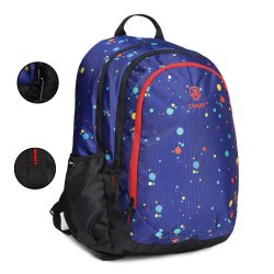 Polka-Dots-Royal-Blue School Bag