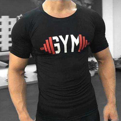 ef69742070452 Mens Cotton Black Printed Gym T Shirt, Rs 70 /piece, Golden ...