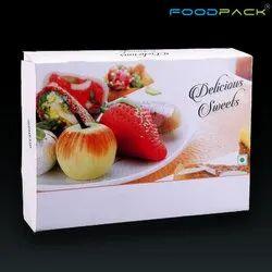 食品包纸板500克甜盒,尺寸:7 x 5 x 1.5英寸