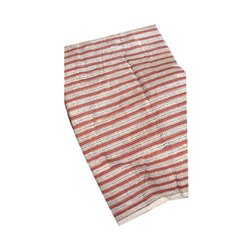 42-45 Inch Stripe Hand Block Printed Bagru Shirt Fabric