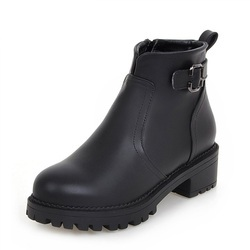 Women Black Flats Ankle Boots