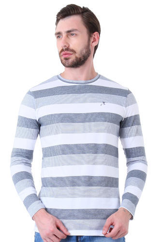 a97618fc9fd2 Men's Trendy Full Sleeve Cotton Striped T Shirt, Rs 180 /piece | ID ...