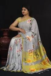 The Beautifully Crafted Contact Top Died Pallu And Border Add To The Grace And Charm Of The Handloom