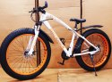 Bengshi White Orange Fat Tyre Cycle