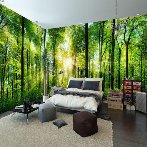 Scenic PVC Bedroom Forest Wallpaper, Rs 100 /square Feet
