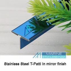 Stainless Steel V Grooved Inlay T Patti