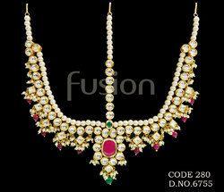 Antique Designer Kundan Damini Mathapatti