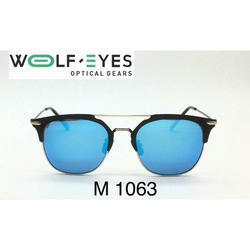 Wolf Eyes Men Metal Aviator Sunglasses