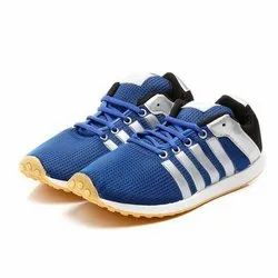 Mens Royal Blue Black Polyster Jogging, Walking & Running Shoes