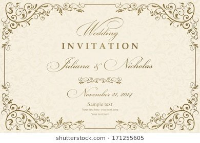 Invitation Card View Specifications Details Of Designer