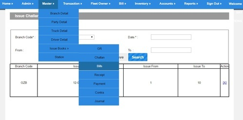Transport Software With GST Billing