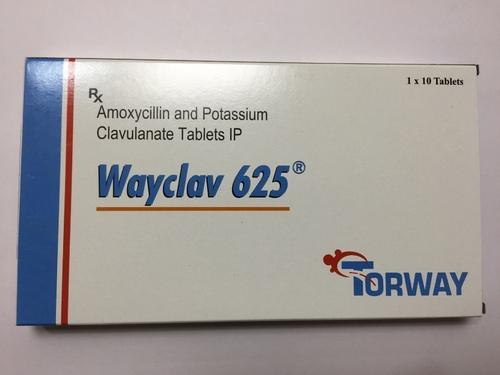 Wayclav 625 Amoxycillin and Potassium Clavulanate Tablet, Packaging Type: Strips