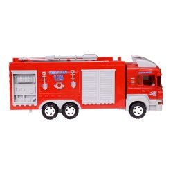 Red Friction Fire Brigade Engine Truck for Play School