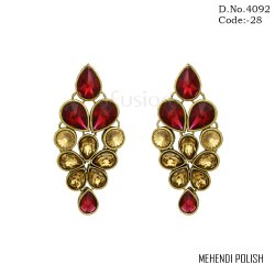 Traditional LCT Stone Earrings