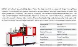 Ms 3 Phase PAPER CUP AUTOMATIC MACHINE