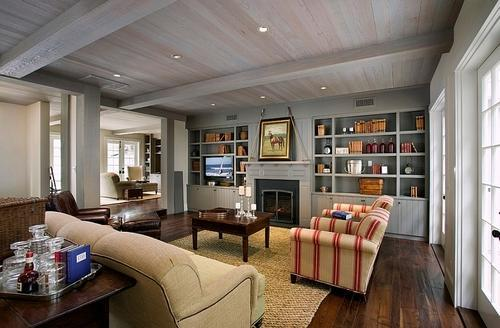 Wooden & Concrete Farm House Interior Designing