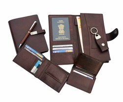 Three in One Leather Gift Set