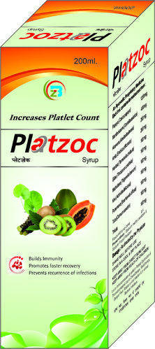 Platzoc Platelet Count Syrups, Packaging Type: Box