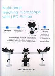 Multi Head Teaching Microscope With LED