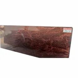 Puja Marble Big Slab Red Multi Granite Stone, Thickness: 17 Mm, for Flooring