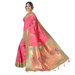 1509 Ladies Handloom Cotton Silk Saree