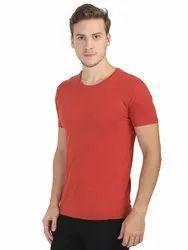 Fashion Style Round Neck Plain Cotton T-Shirt