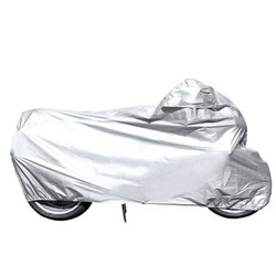 Silver Polyester Bike Body Cover