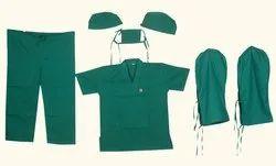 Unisex Green Hospital Uniform, Size: XL