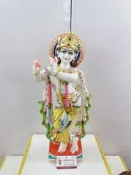Jaipurcrafts White Marble Krishna, Size: 15 Inch, for Temple