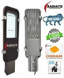 White Radiato Embedded System 20W LED Street Light, 90-285 Volt