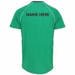 Green Half sleeves Name Printed Jersey