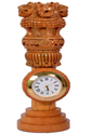 Wooden Ashoka Pillar with Clock