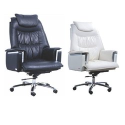President HB Black and White Revolving Office Chairs