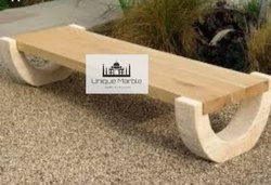 Teakwood Sandstone Bench