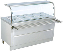 SS Kitchen Bain Marie Counter