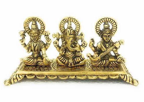 f85e5e739 Laxmi Ganesh Silver and Golden - Gold Plated Bharat Handicrafts ...