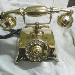 Antique Golden Brass Phone