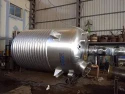Stainless Steel Limpet Coil Reaction Vessels, Capacity: 1000-10000 L