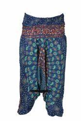 Indian Peacock Mandala Ali Baba Bagru Harem Yoga Pant