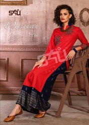 S4u Womaniya Vol 12 Kurta & Palazzo Pair Exclusive Collection Wholesalers