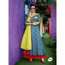Cotton Ladies Printed Kurti, Size: S-XL