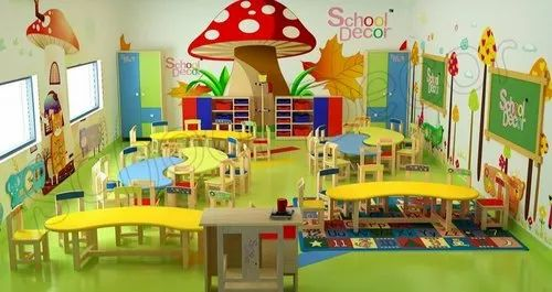 Wood Play School Mushroom Theme Class Room Setup