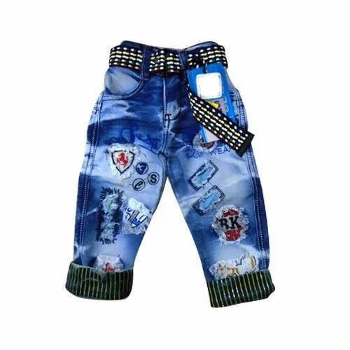 Kids Casual Wear Jeans, Age: 4 To 10