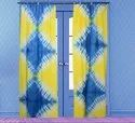 Tie and Dye Cotton Curtains Decorative Shibori Door Window Valances