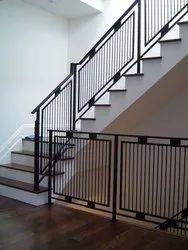 Straight Run Clay Iron Staircase