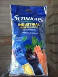 Senseous Orange Rubber Hand Gloves