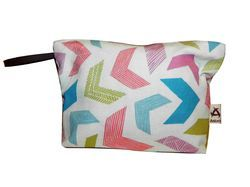 Printed Canvas Travel Pouch